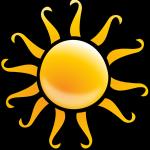 soleil illustration jaune