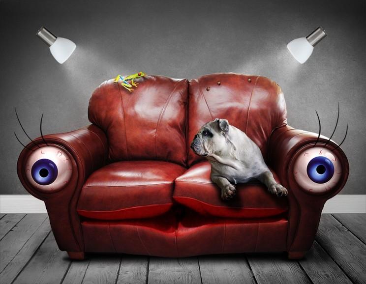 sofa rêve surréaliste