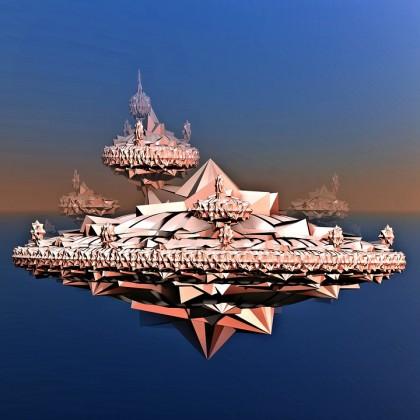 utopie pagode graphique